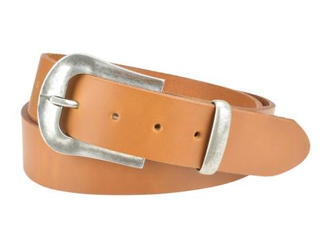 BULLJEANS N°05 | Ceinturon Western en cuir couleur camel boucle finition argent 4