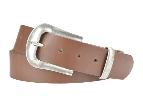 BULLJEANS N°05 | Ceinturon Western en cuir couleur chataigne boucle finition argent 3